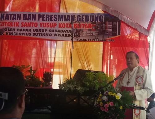 Peresmian Gedung Baru SMK Katolik St. Yusup Blitar